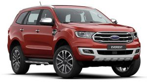 Ford Everest màu Đỏ Sunset