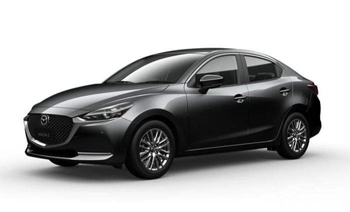Mazda 2 Sedan màu Machine Grey Metallic