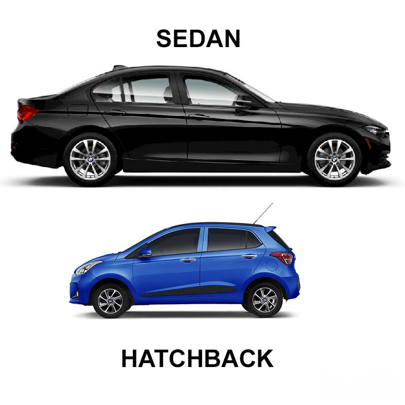 Hatchback và Sedan