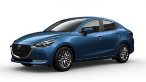 Mazda 2 Sedan màu Eternal Blue